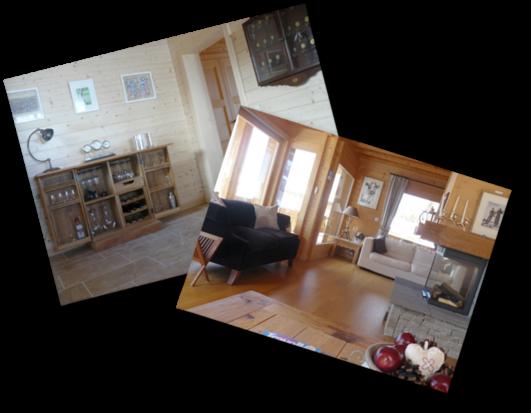 Les Hirondelles chalet's living room